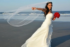 Bride with veil Daytona Beach