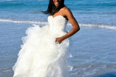 Daytona Beach bride in the water