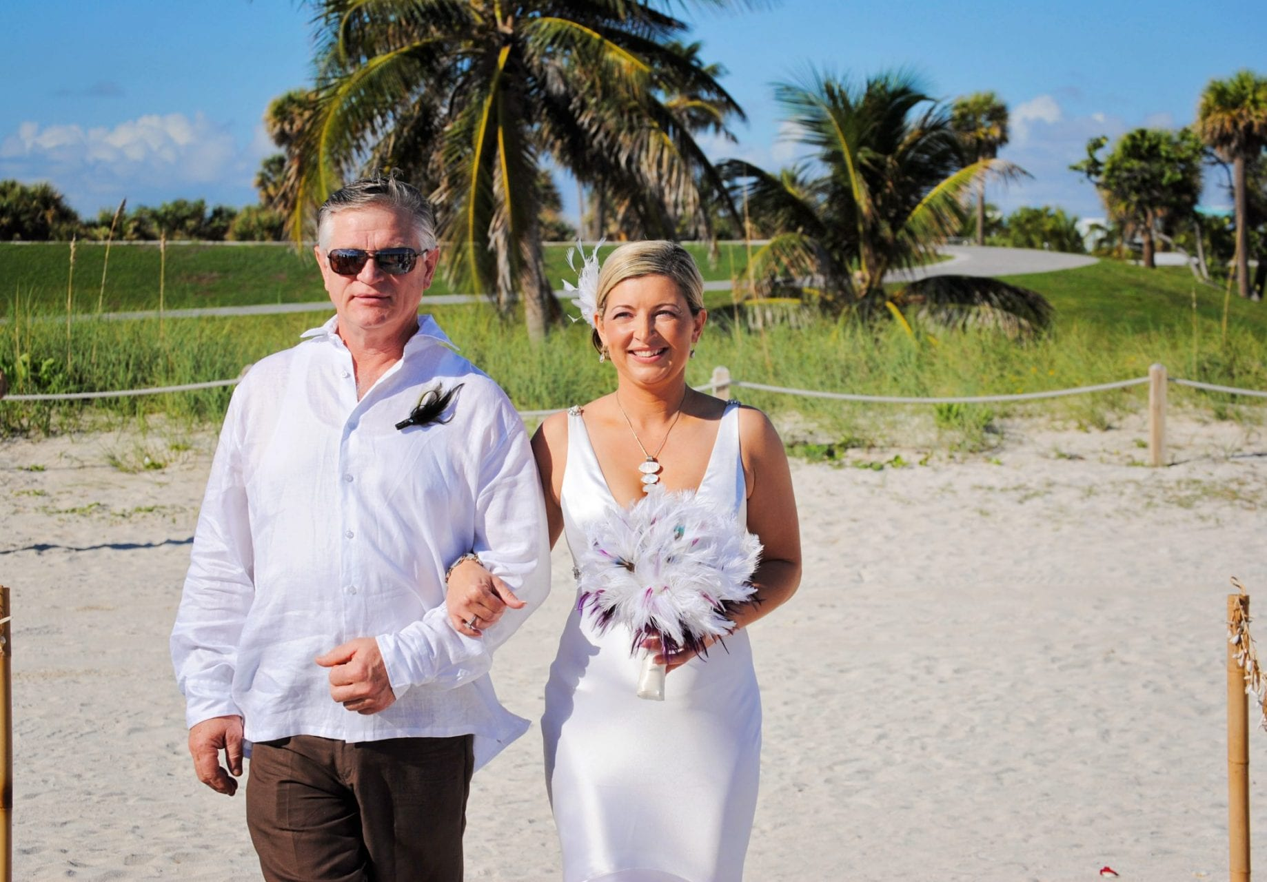 Bride and Father Miami