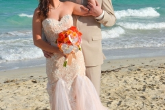 Bride and Groom on Miami Beach