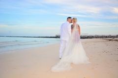 Miami Beach Ceremony Kisses