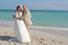 Bride and groom married in South Beach Miami