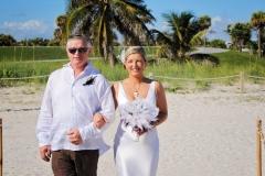 Bride and Father Miami