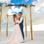 Gulf beach wedding in Siesta Key