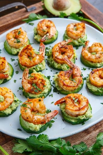 Shrimp bites for ocean party by the beach