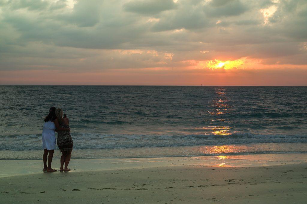 Sunset on Lido Beach, Sarasota