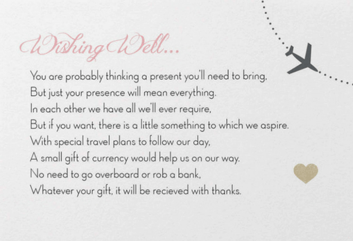 Wishing well gift card for wedding use