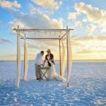 Florida Beach elopements are complete with a Sand Ceremony, where the bride and groom pour sand to join lives.