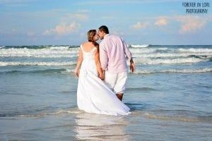 Daytona Beach Weddings are a romantic idea for sharing a stroll on the beach.