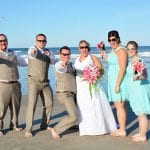 Dayont Beach Weddings allow the bride and groom and bridal party to celebrate in paradise.