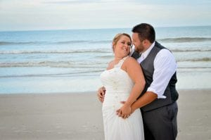 St. Augustine beach weddings are the ideal spot for your to pose for wedding photos.