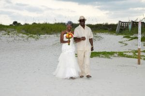 Daytona Beach Weddings allow you to have traditional touches of your wedding, such as being walked down the aisle by your dad.