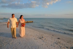 Clearwater Beach Weddings are the perfect time to stroll the beach.