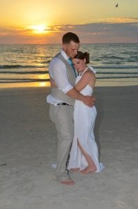 Sunset Clearwater Beach Weddings are the most romantic and intimate moment you can have.