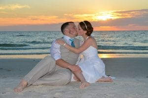 Sunset Clearwater Beach Weddings provide a photo backdrop more incredible than you could imagine.