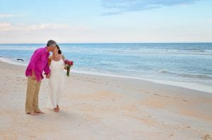 St. Augustine beach weddings with a professional company for our Florida beach wedding ceremony.