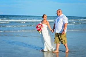 St. Augustine beach weddings are the ideal location to stroll the Florida beaches