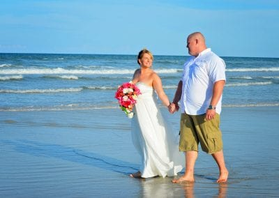 St. Augustine beach weddings on the ocean.