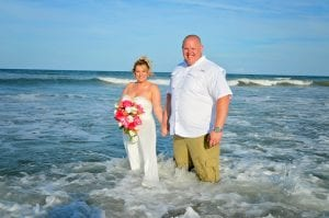 St. Augustine beach weddings in the ocean for your trash the dress Florida beach weddings.