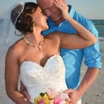 Siesta Key Beach Weddings with teal and pink are tropical colors that pop.