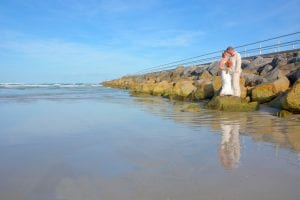 Daytona Beach Weddings at the Jetty for beach wedding photos.