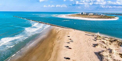 Aerial view of Ponce inlet Beach, Florida