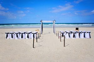 Destination Weddings in Florida features this black and white classic look.