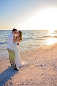 Our sunset Siesta key Beach weddings are ideal for beach wedding photos.