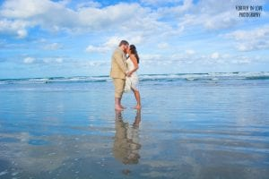 Daytona Beach Weddings provide the perfect spot for a reflection photo.