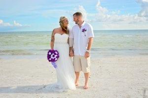 This bride and groom renewed their loved during our Siesta Key Beach weddings.
