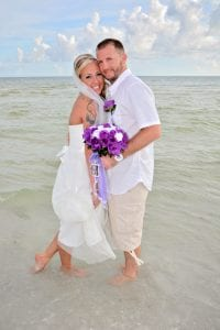 Siesta Key Beach Weddings are the perfect place to dip your toes in the water and pose for a photo.