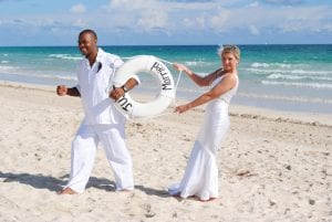 South Beach Weddings in Miami, Florida are the tropical and lively bride.