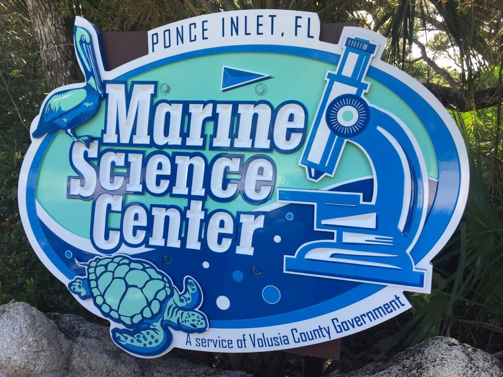 Ponce Marine Science Center entrance sign