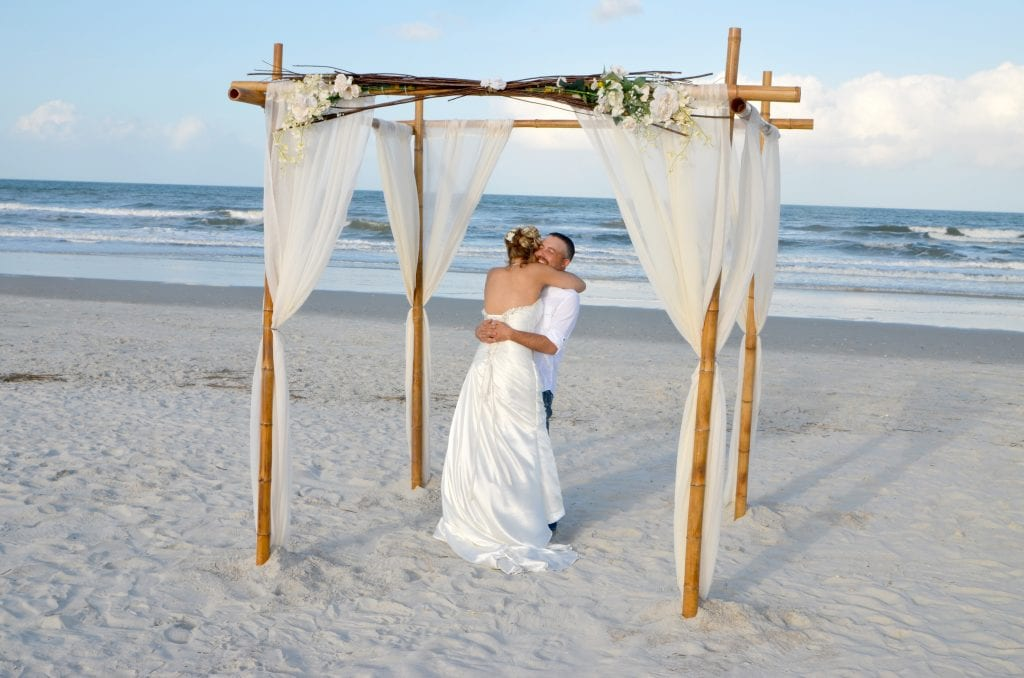 This bride and groom celebrate during one of our weddings in Florida.