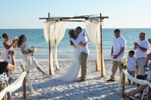 Weddings in Florida with natural beach wedding decor and packages.