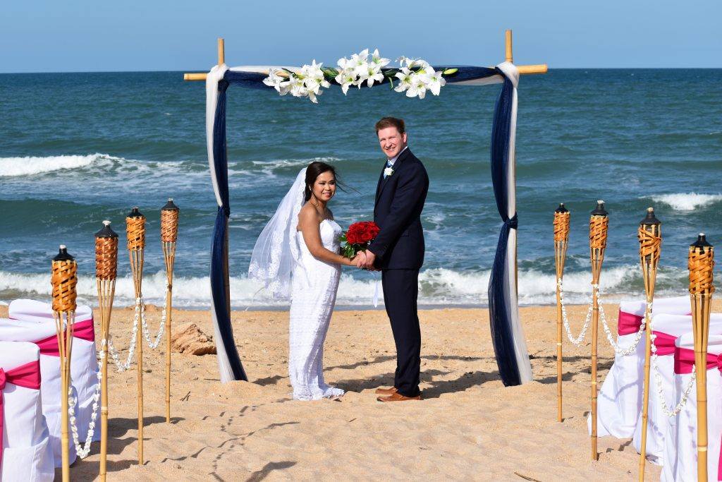 Nautical Knot wedding package and couple Palm Coast