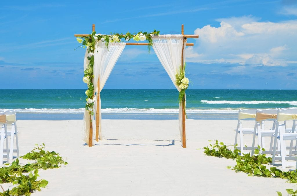 South Beach weddings in Miami Florida with natural floral designs.