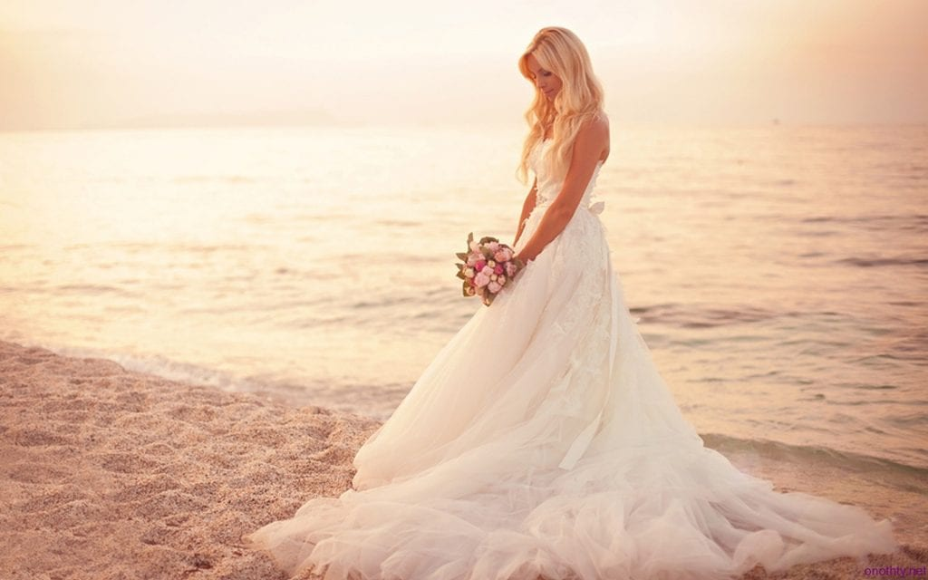 summer florida beach wedding dress
