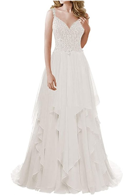 Chiffon beach wedding dress from Amazon