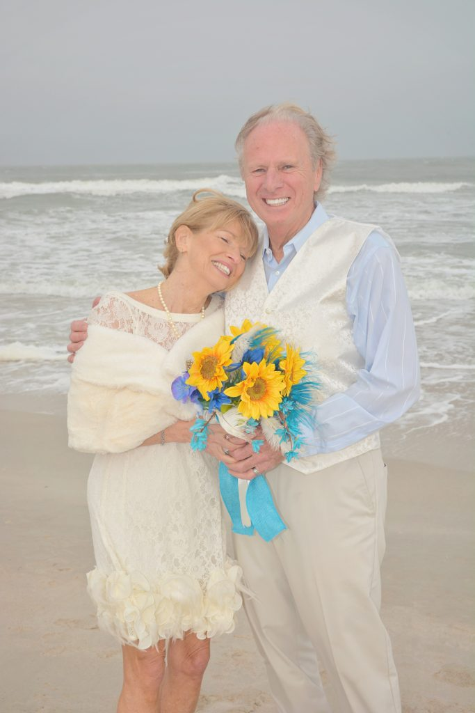Older couple married on St. Augustine Beach