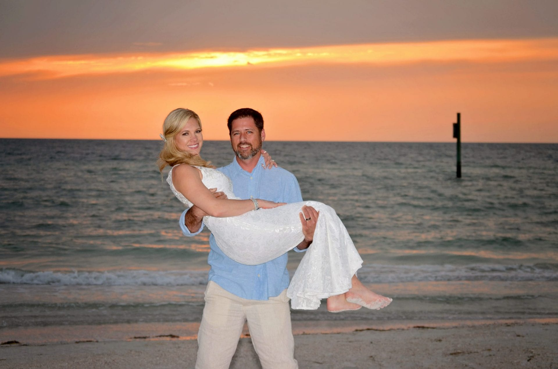 Couple married on Clearwater Beach
