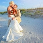 Ponce Inlet Beach Weddings are complete with elegant dunes.