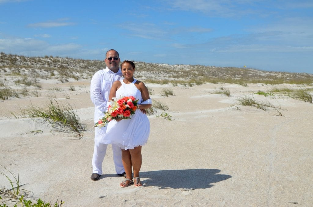 Anastasia State Park Weddings are the ideal spot for photos by the dunes.