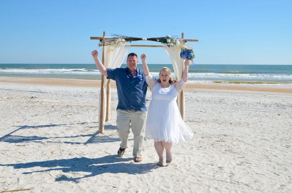 Florida Beach couple celebrating vow renewals in Daytona