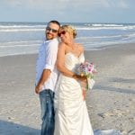 Our Anastasia state park beach weddings include photography for you to pose with your new spouse.