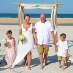 Anastasia Beach Weddings with decor and an aisle-way to celebrate with family and friends.