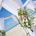 One of the Wedding Packages in Florida shows off a floral spray feature as part of this Distinctive Package.