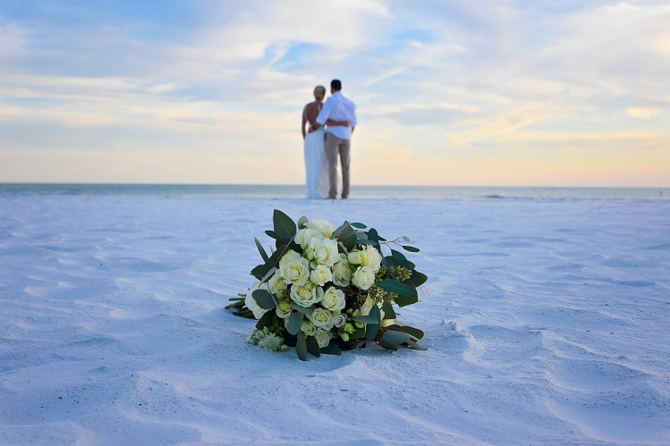 Wedding flowers on Clearwater Beach