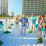Have your dad walk you down the aisle during our Destin, Florida beach weddings.