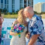 A dad gives his daughter away at one of our Destin, Florida beach weddings.